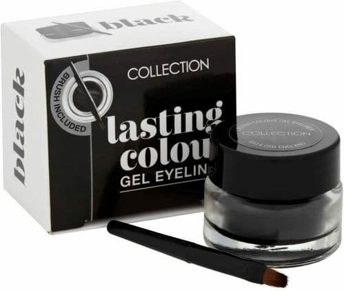12 x Collection Lasting Colour Gel Eyeliner with Brush | Intense | Black